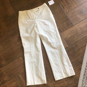 Calvin Klein white classic dress pants size 10